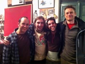 תמונת פרידה: ארווין ויליאמס, אני, ארטיס אורובס וקובי פרחי